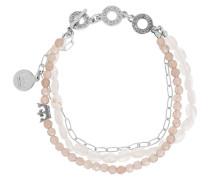 Armband rosé / silber / perlweiß