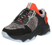 Sneaker Low 'Baisley' rot / schwarz