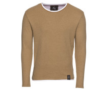Pullover 'msw Sarasota round' camel