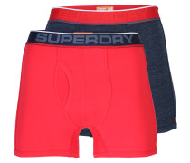 Boxer 'tipped Sport' navy / hellrot