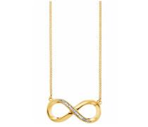 Kette mit Anhänger 'Infinity' gold