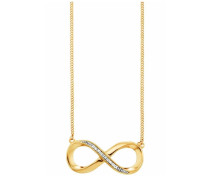 Kette 'Infinity' gold / weiß
