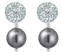 Ohrringe 'Kugel Perle' silber