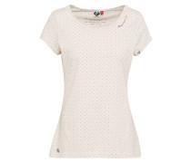 T-Shirt 'mint Dots' beige