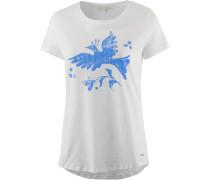 T-Shirt blau / offwhite