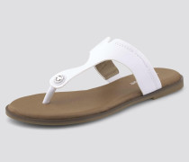 Shoes Zehentrenner aus Lederimitat weiß