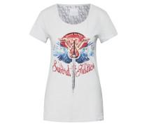 T Shirt hellgrau / mischfarben