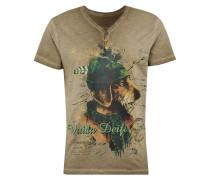 T-Shirt 'Monty' sand / mischfarben