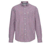 Hemd 'LS House Check Shirt' blau / rot