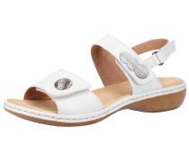 Sandalen hellbraun / weiß