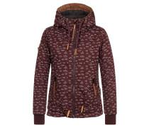 Jacket 'Gleitgelzeit' braun / burgunder