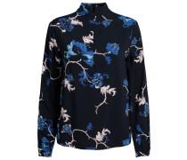Bluse blaumeliert / weiß