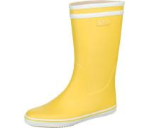 Gummistiefel 'malouine' gelb / weiß