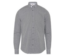 Hemd mit Muster dunkelgrau / weiß