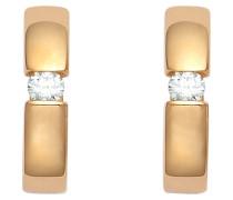 Ohrstecker gold / weiß