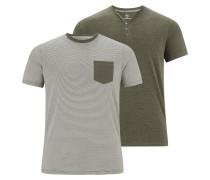 T-shirt 'Augustinus' oliv / weiß