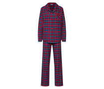 Pyjama 'debby CAS NW' blau / rot