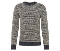 Pullover 'deep' basaltgrau / weiß