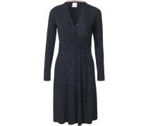 Jerseykleid nachtblau / blaumeliert