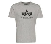Print-Shirt graumeliert