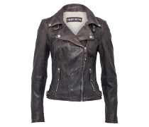 Lederjacke 'New Love' anthrazit