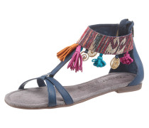 Sandale blau / dunkelpink