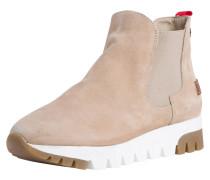 Chelsea Boot braun / weiß / camel