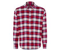 Hemden (langarm) ' 35247 ' rot / weiß