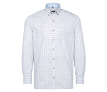 Langarm Hemd Comfort FIT beige / hellblau