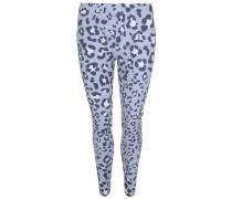 Leggings LEO blau / hellblau / weiß
