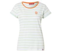 Shirt 'Ice' orange / mint / weiß