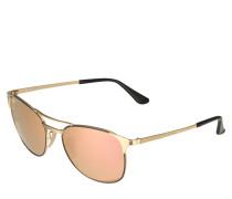 Sonnenbrille 'Signet' gold / schwarz
