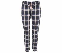 Lange Hose mit elastischen Hosenbeinabschlüssen