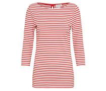 Shirt 'Darja Bow' rot / weiß