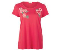 T-Shirt mit Blumen-Stickerei grenadine