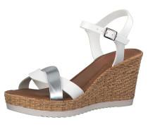 Sandale weiß / silber