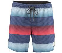 Shorts 'PM Santa Cruz Stripe' blau / rot