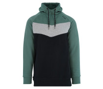 Hoody 'Banham' grau / grün