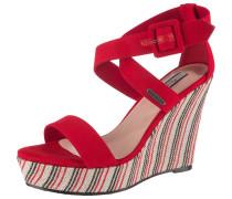 Sandaletten mischfarben / rot