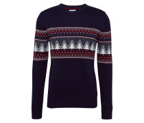 Pullover 'F christmas cnk' navy