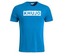 T-Shirt 'Charo' royalblau / weiß