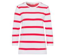 Sweatshirt 'Bobbie' rot / weiß