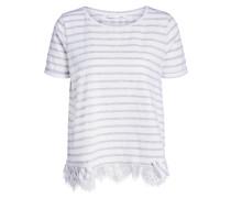 Shirts flieder / weiß