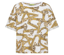 Shirt 'tdm606' gold / weiß