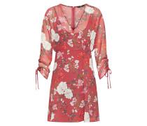 Kleid 'onlMIMI LS Short Dress Wvn' weinrot