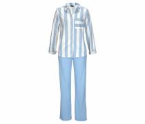 Pyjama 'Dreams' hellblau / weiß