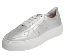 Sneaker in Metallic-Optik silber