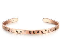 Edelstahlarmreif mit Schriftzug YOU ARE Beautiful
