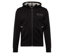 Sweatjacke 'Saggy 10134333 01' schwarz