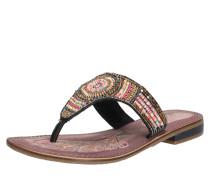 Sandalen mit Zehensteg und Zierperlen